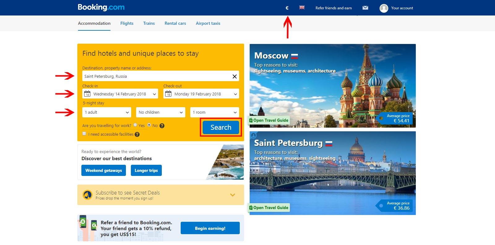 Vpayment   راهنمای تصویری رزرو هتل خارجی ، سایت Booking