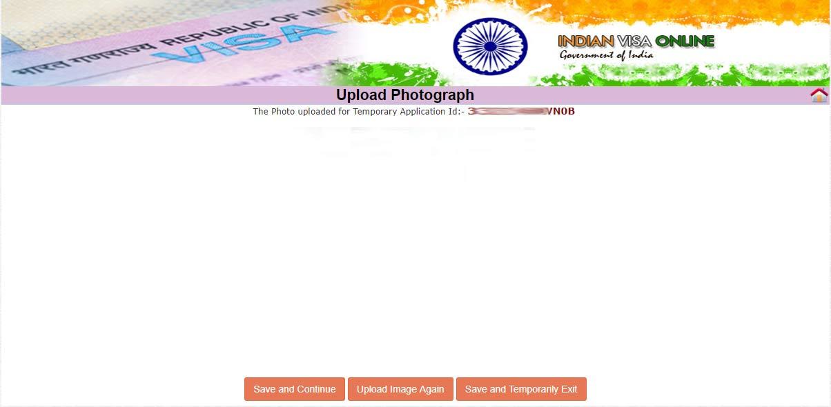 مرحله ششم پرداخت ویزای هند