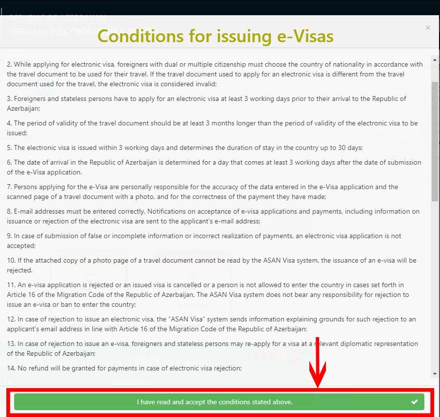 مرحله چهارم پرداخت ویزای آذربایجان